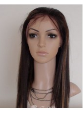 Custom Super High Quality Long Straight Synthetic Hair Wig About 22 Inches